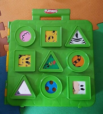 playskool blocksters shape sorting box