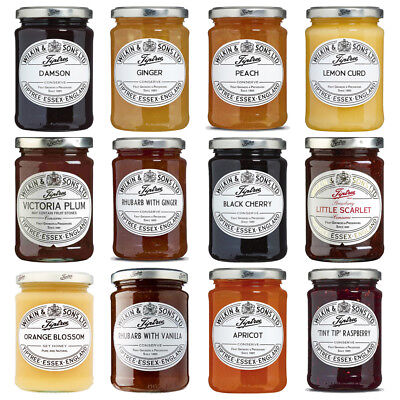 Wilkin & Sons Tiptree Multi Jam Jars Lemon Black Cherry Strawberry Plum Vanilla