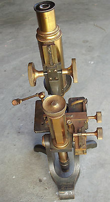 Antique Brass Microscope A.Franks Manchester  1800s