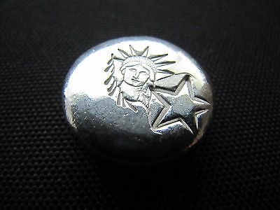 HACMint 1.1 oz 999+ Fine Silver SOL Hand Poured ART ROUND