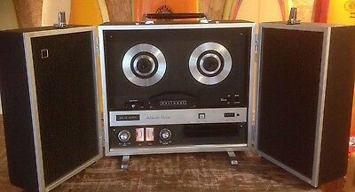 Vintage Retro National Reel To Reel Tape Recorder Player RS-780S Working
