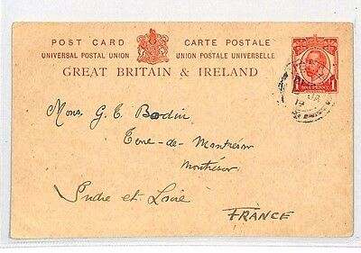 BH171 1919 GB CHANNEL IS JERSEY FRANCE Postal Stationery