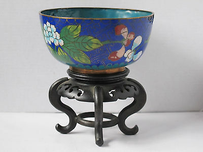 "Antique Chinese Cloisonne Bowl - 4.5"" diameter - Nice"