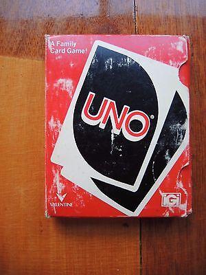 Vintage uno cards from 1980
