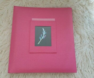 Hot Pink Scrapbook Blank Black Page Photo Album