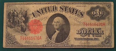 1917 Large Size United States Note Dollar Bill Red Seal Banknote T44416476A