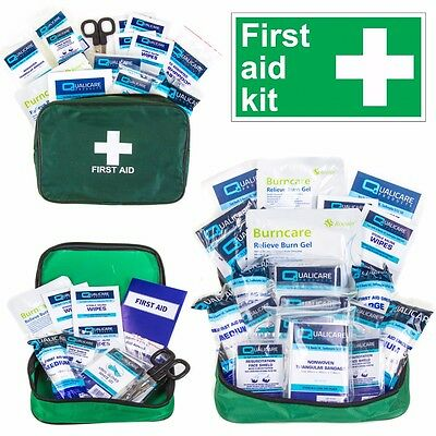 SMALL-LARGE MOTORIST TRAVEL KIT Medical First Aid Injury Car/Van/Taxi/Mini Bus