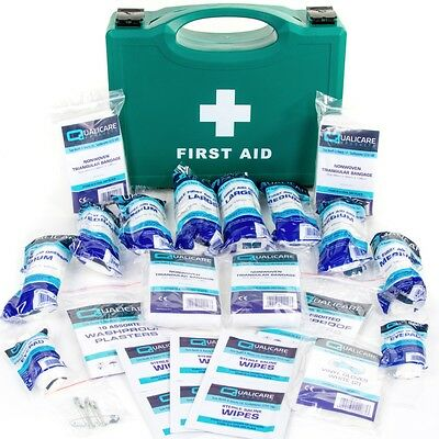HSE APPROVED FIRST AID HARD BOX 1-10 Person Work/Home Medical Sprain/Injury Kit