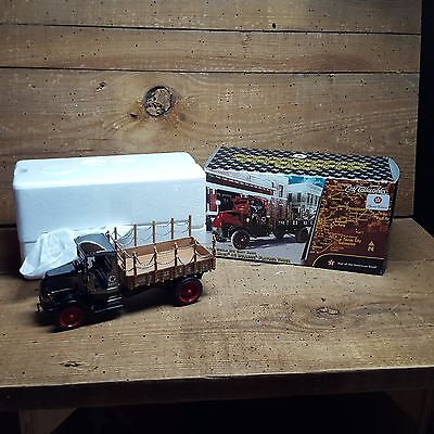 1918 Mack Ac Bulldog Flatbed Truck~~1:32 Scale Bank~Chrome~Special Edition