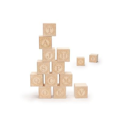 Uncle Goose Uppercase Alphablank Blocks - Made in USA - NEW FREE SHIPPING