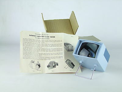 Vintage Paterson Delatview 35mm Slide Viewer With Instructions Boxed