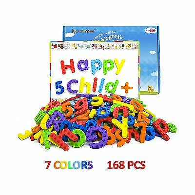 KAKATIMES 168PCS Magnetic Letters and Numbers ABC Alphabet Magnets for Kids G...
