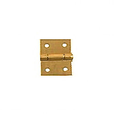 Pair of Brass Butt Hinges, 12mm by 16mm, Dolls House Miniature DIY