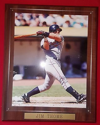 "Jim Thome #25 Cleveland Indians Wood Plaque Vintage 1990's Tribe 13""H x 10""W"