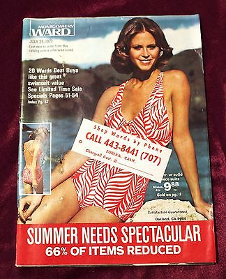 Vintage Montgomery Ward Sales Catalog, July 25, 1977, Summer,Swim Suits, 99 pgs!