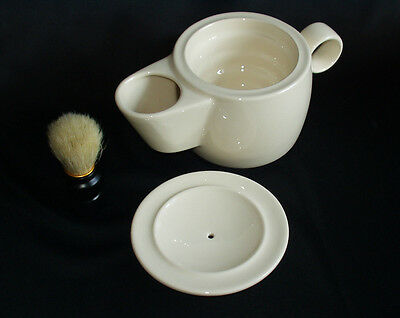 Shaving Mug Bowl Scuttle in Creamware