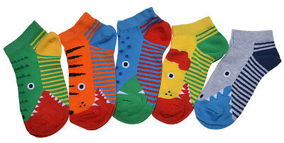 5 pairs of Babies Trainer socks - Animal Theme