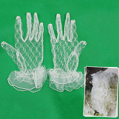 Weeding Dress Party Flower Girl Children Lace New Baby Net Yarn Gloves Short