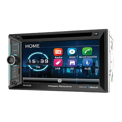 "Power Acoustik PD-623B Double 2 DIN CD/DVD Player 6.2"" LCD Bluetooth USB SD AUX"
