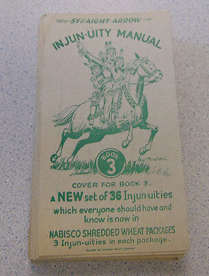 Injun-uity Book 3 Complete Set 36 Cards Nabisco Shredded Wheat Promo