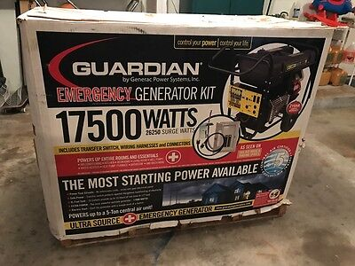 Generac 17,500 Watt Generator & Transfer Switch Panel, Guardian Portable 17500