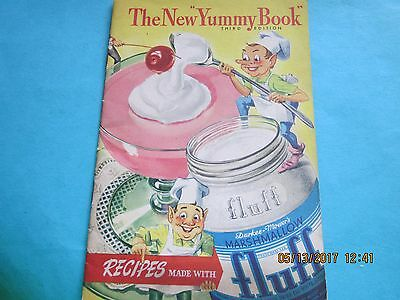 The New Yummy Book Fluff Marshmallow Recipe Booklet 1935 Elves Cooking Dessert