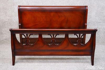 DREXEL TRAVIS COURT Full Size Mahogany Sheraton Bed (adapter rails make a Queen)
