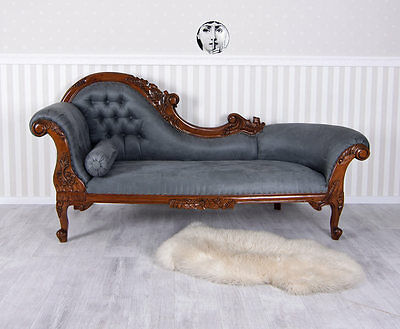Canape Style Second Empire En Acajou Meridienne Napoleon Iii Sofa