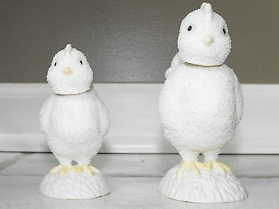 Dept 56 Snowbunnies Figurine - Annual 2002 Large and Small Bobble Head Chicks