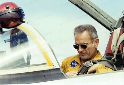 8x10 Print NASA Mercury Seven Donald Slayton Straps in T-38 Jet Trainer #2017178