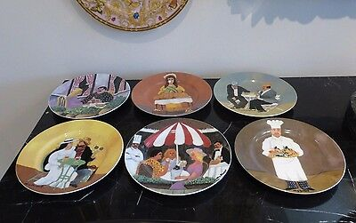 6 Guy Buffet COLLECTIBLE FRENCH SCENES Salad Plates