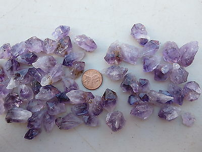 115  Amethyst Crystals, Some With Cacoxenite. Use To Facet, Display Or Wire Wrap