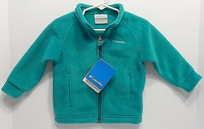 NWT! Columbia Benton Springs Fleece Jacket Infant Baby Youth 12 - 18 Months Teal