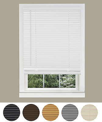 Premium Vinyl Venetian Window Mini Blinds - Assorted Colors & Sizes