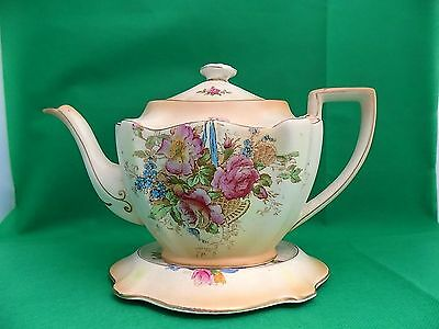 Crown Ducal Blushware Teapot