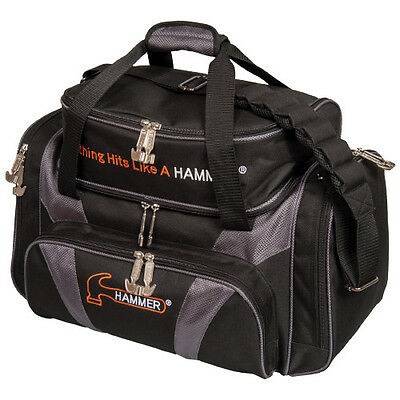 Hammer 2 Ball Deluxe Tote Bowling Bag w/shoe pocket Carbon