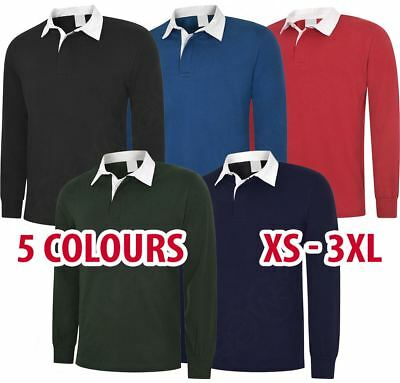 Mens & Womens Classic Rugby Shirt Polo Long Sleeve Top Sports Cotton Wholesale