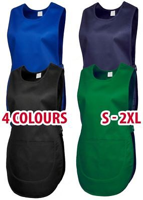 Mens & Womans Tabard Apron Pockets Work Wear Overall Catering Cleaning Wholesale
