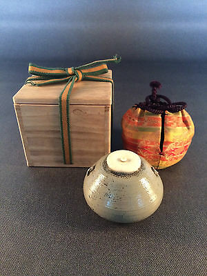 "Shiri-bari ""wide-bottom"" Chaire Tea Caddy for Japanese Tea Ceremony"