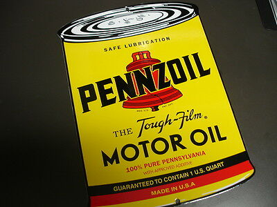 PENNZOIL Oil Gas Can Porcelain advertising Sign