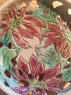ANTIQUE VINTAGE BERYL ARMSTRONG AUSTRALIAN POTTERY BOWL Signed!
