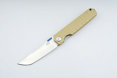 Desert Tan Nice Work ZKC-C03 Stedemon Knife G10 Liner Folder 440C Bearing Knife