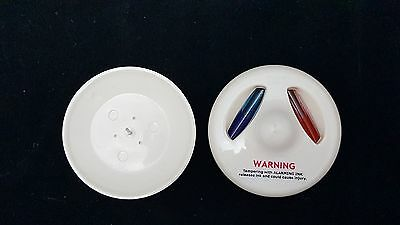 Lot of 250 Hawkeye Glass Ink Security Tags & USS Pin Backs EAS Anti-Theft Retail
