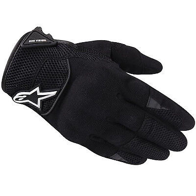 Alpinestars Spartan Urban Black Motorcycle Gloves Kevlar Knuckle Motorbike