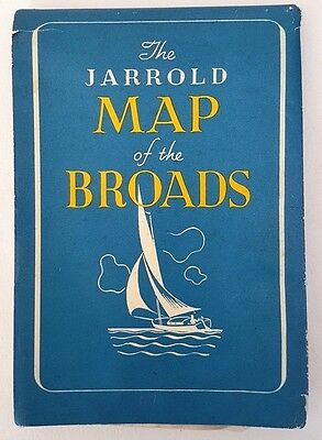 The arnold Map Of The Broads Vintage Norfolk Broads Map