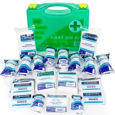 PREMIER HSE APPROVED FIRST AID KIT WALL MOUNTED HARD BOX 1-10 Person Accident