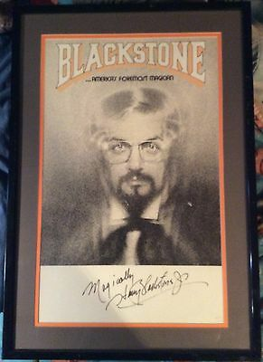 Extremely Limited Harry Blackstone Jr Framed Signed & Numbered Poster 65/150