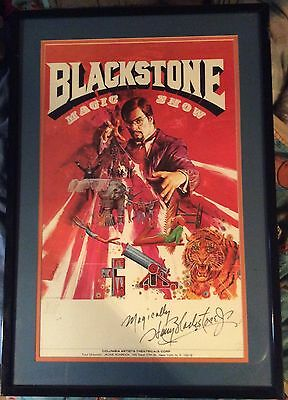 Extremely Limited Harry Blackstone Jr Framed Signed & Numbered Poster 106/500