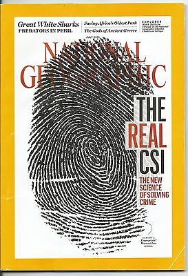 National Geographic July 2016 - The Real CSI - Great White Shark - UK post free