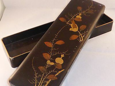 Delightful Antique Japanese Lacquer Glove Box c1890